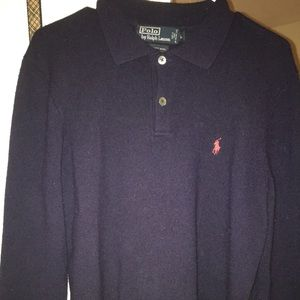 Polo wool collar long sleeve